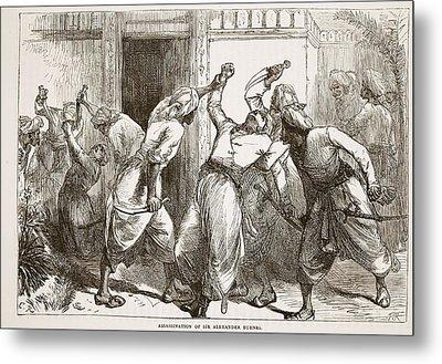 Assassination Of Sir Alexander Burnes Metal Print by English School