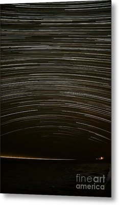 Assateague Star Trails Metal Print by Benjamin Reed