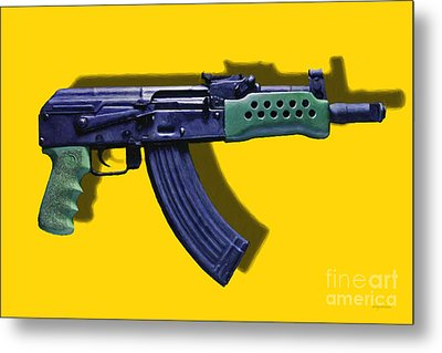 Assault Rifle Pop Art - 20130120 - V2 Metal Print by Wingsdomain Art and Photography