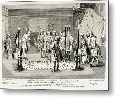 Assembl�e Des Francs-masons Pour La Metal Print by Everett