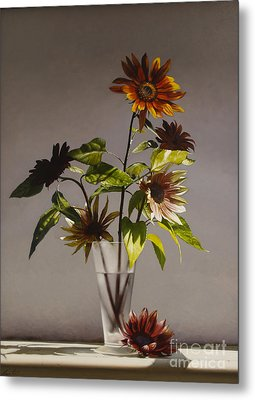 Assorted Sunflowers Metal Print by Larry Preston