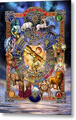 Astrology Metal Print by Ciro Marchetti