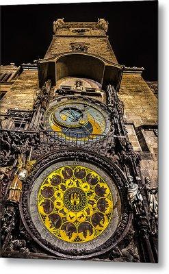 Astronomical Clock Metal Print by Matthew Gulosh
