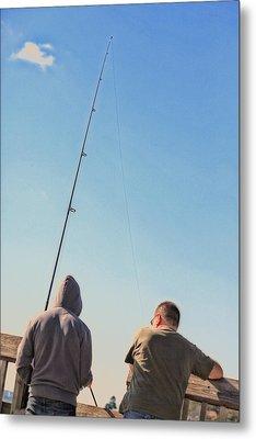 At Fishing Metal Print by Karol Livote