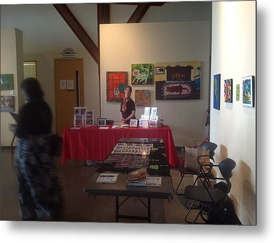 At Project Everbody Showing My Table Metal Print by AJ Brown