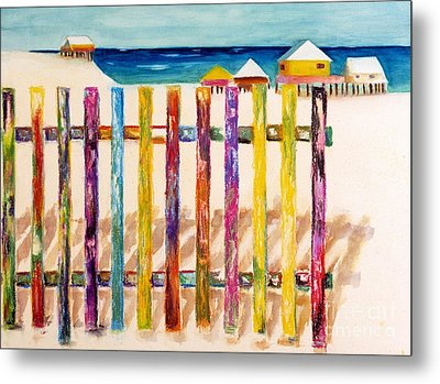 At The Beach Metal Print by Frances Marino