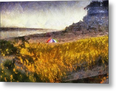At The Beach Photo Art 01 Metal Print by Thomas Woolworth