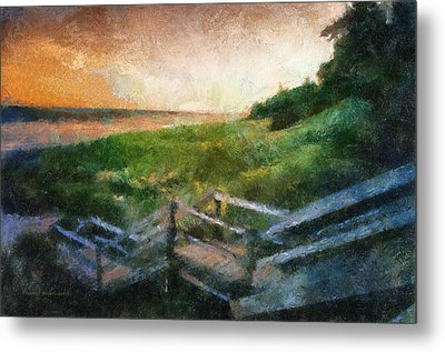 At The Beach Photo Art 02 Metal Print by Thomas Woolworth