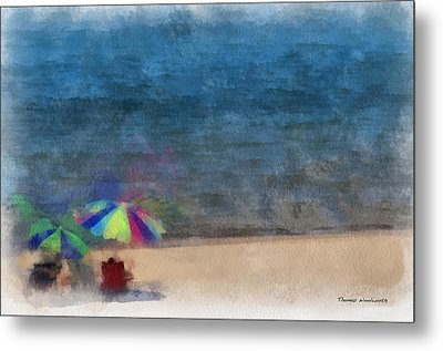 At The Beach Photo Art 03 Metal Print by Thomas Woolworth