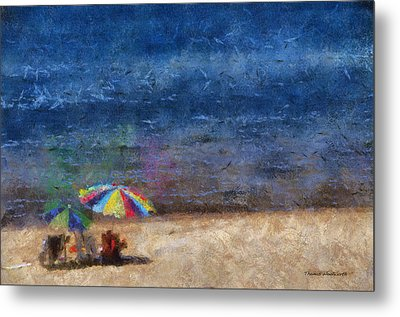 At The Beach Photo Art 04 Metal Print by Thomas Woolworth