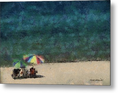 At The Beach Photo Art 05 Metal Print by Thomas Woolworth