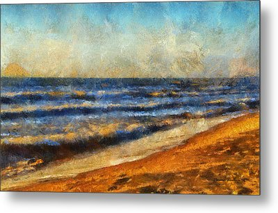 At The Beach Photo Art 06 Metal Print by Thomas Woolworth