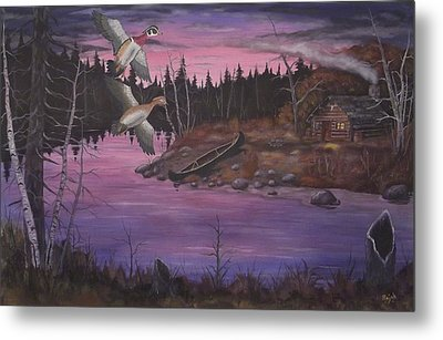 At The Cabin Metal Print by Rudolph Bajak