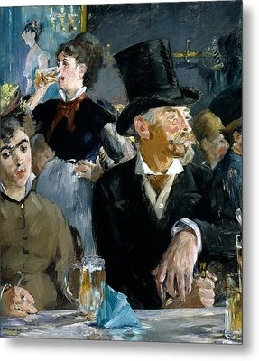At The Cafe Concert Metal Print by Edouard Manet