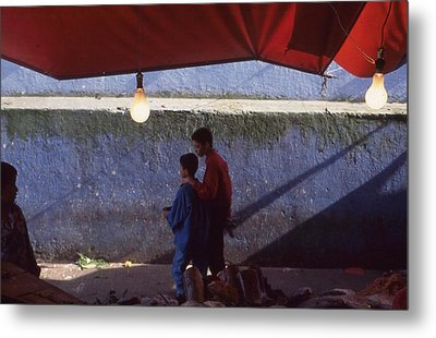At The Fish Market Casablanca 1996 Metal Print by Rolf Ashby