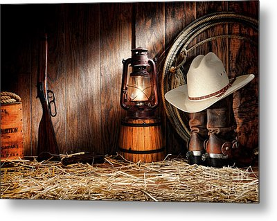 At The Old Ranch Metal Print by Olivier Le Queinec