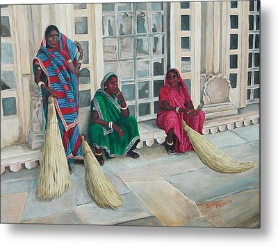 At The Palace Metal Print by Pam Kaur