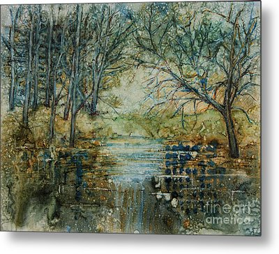 At The Stream Metal Print by Janet Felts