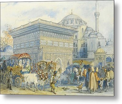 At The Tophane Fountain Metal Print by Celestial Images