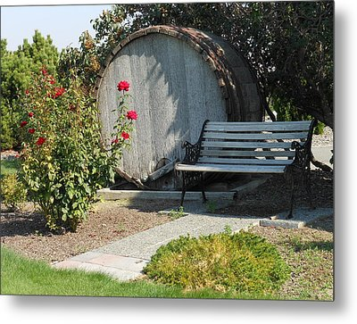 At The Winery Metal Print by Kay Gilley