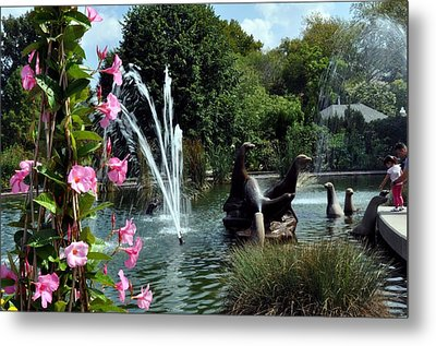 At The Zoo Metal Print by Marty Koch