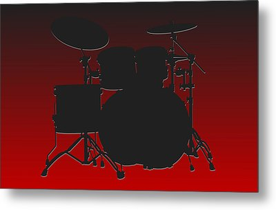 Atlanta Falcons Drum Set Metal Print by Joe Hamilton