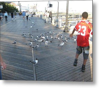 Atlantic City - Boardwalk - 12125 Metal Print by DC Photographer