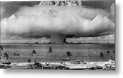 Atomic Bomb Test Metal Print by Mountain Dreams