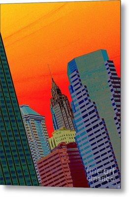 Atomic Skyline Metal Print by Andy Heavens