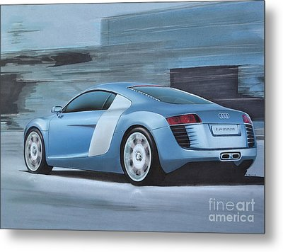 Audi R8 Lemans Concept Metal Print by Paul Kuras