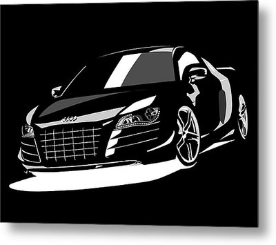 Audi R8 Metal Print by Michael Tompsett
