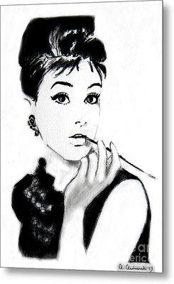 Audrey Hepburn Metal Print by Anna Androsovski
