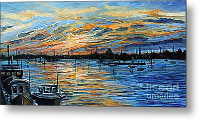 August Sunset In Woods Hole Metal Print by Rita Brown