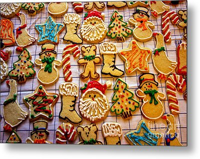 Aunt Tc's Christmas Cookies Metal Print by Mitch Shindelbower