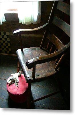 Aunt Tillie's Sewing Chair Metal Print by Julie Dant