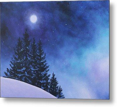 Aurora Borealis Winter Metal Print by Cecilia Brendel