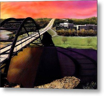 Austin 360 Bridge Metal Print by Marilyn Hunt