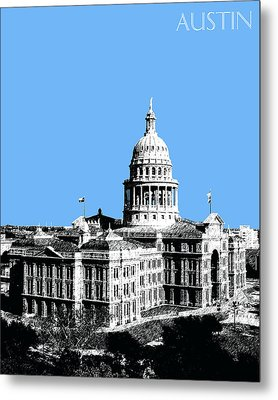 Austin Texas Capital - Sky Blue Metal Print by DB Artist