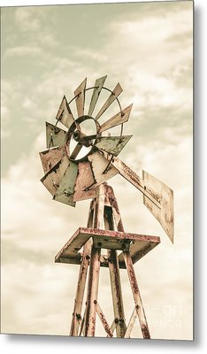 Australian Aermotor Windmill Metal Print by Jorgo Photography - Wall Art Gallery