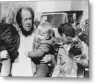 Author Alexander Solzhenitsyn Metal Print by Underwood Archives