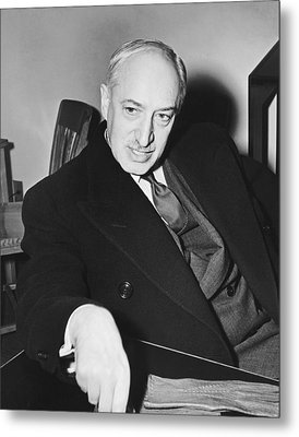 Author Andre Maurois Metal Print by Underwood Archives