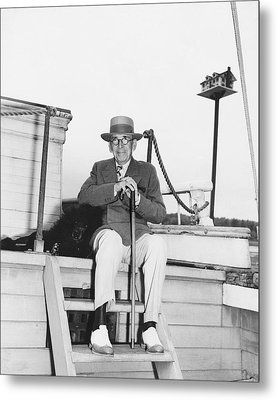 Author Booth Tarkington Metal Print by Underwood Archives