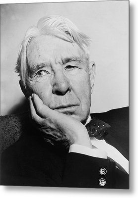 Author Carl Sandburg Metal Print by Al Ravenna