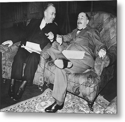 Author H.g. Wells Metal Print by Underwood Archives