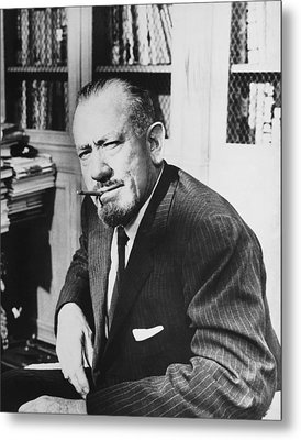 Author John Steinbeck Metal Print by Underwood Archives