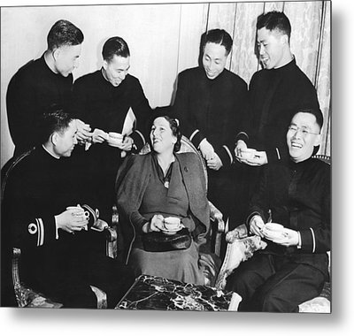 Author Pearl Buck Metal Print by Underwood Archives