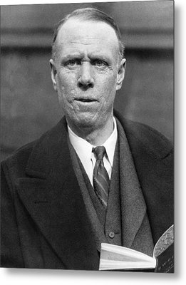 Author Sinclair Lewis Metal Print by Underwood Archives