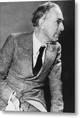 Author Upton Sinclair Metal Print by Underwood Archives