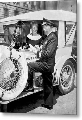 Auto Safety Check Metal Print by Underwood Archives
