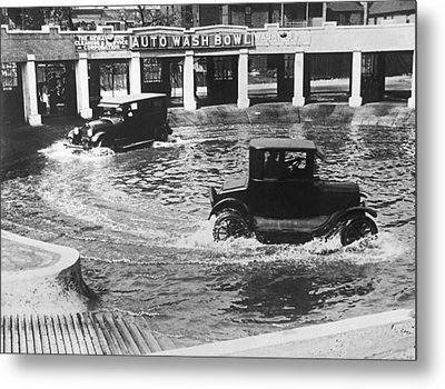 Auto Wash Bowl Metal Print by Underwood Archives